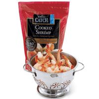 5 Ideas for Frozen Cooked Shrimp-lemony shrimp add spinach (Tues dinner)