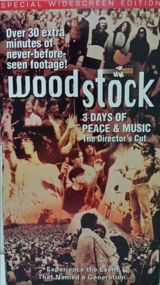 Beadshine Woodstock Three Days of Peace and Music VHS 1999 2 Tape Set and Cover