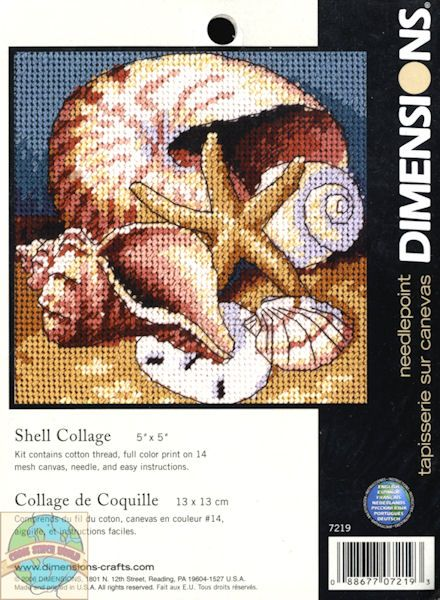 Dimensions Minis - Shell Collage - Cross Stitch World