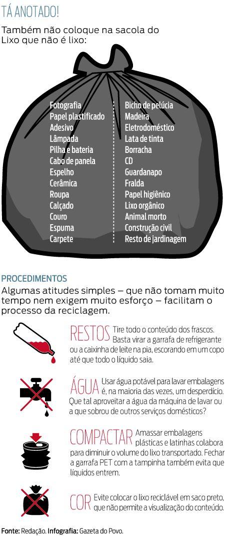 Como separar o lixo reciclável - Vida e Cidadania - Gazeta do Povo