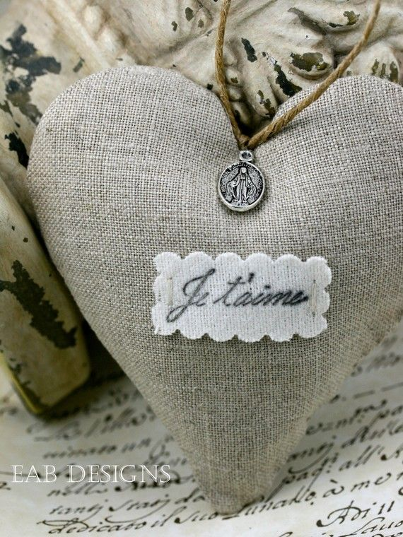 lovely linen heart