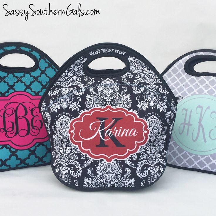 Monogrammed Lunchbox, Monogrammed Lunch Bags Insulated Neoprene, Monogrammed Lunch Bag, Personalized Lunch Tote, Design Your Own by SassySouthernGals on Etsy https://www.etsy.com/listing/244274365/monogrammed-lunchbox-monogrammed-lunch