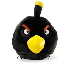 "Rovio Angry Birds 5"" Plush BLACK BOMB Bird Toy with Sounds New with Tags"