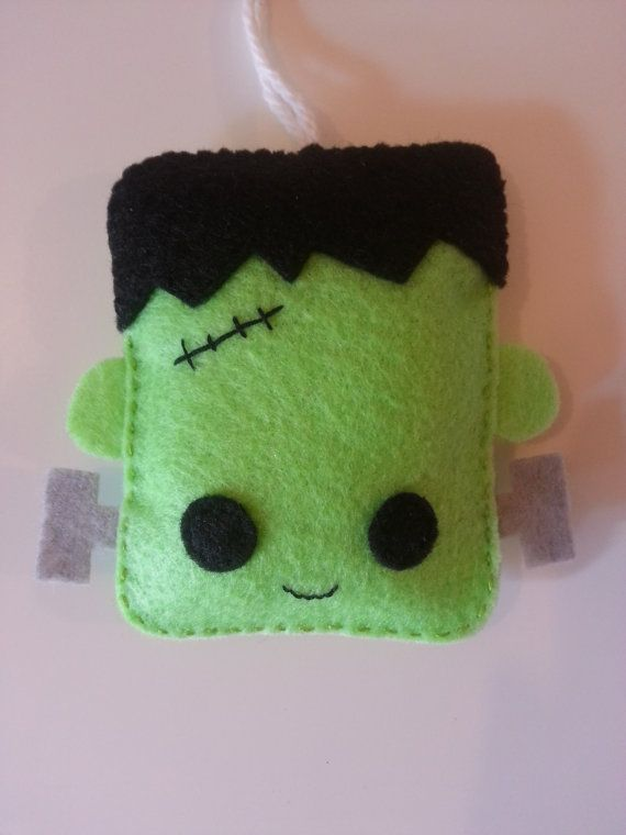 Halloween Ornament Felt Frankenstein Kawaii Decor