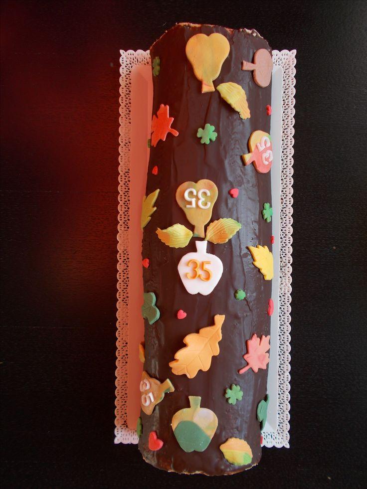 Podzimní čokoládová roláda