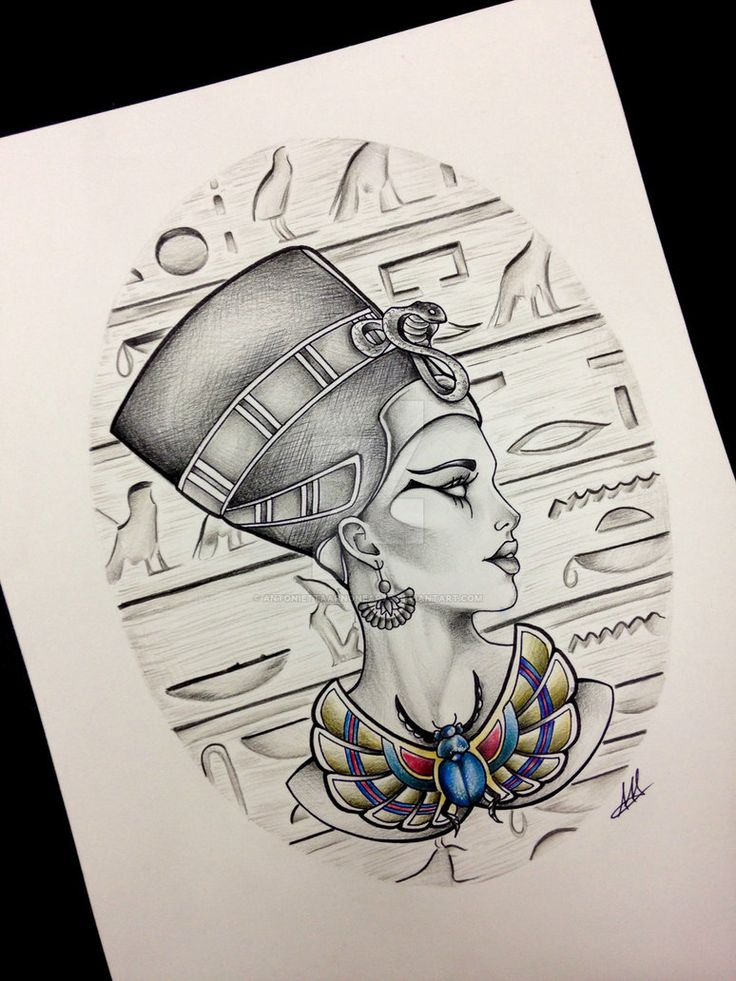 Queen Nefertiti Tattoo Design Inspiration