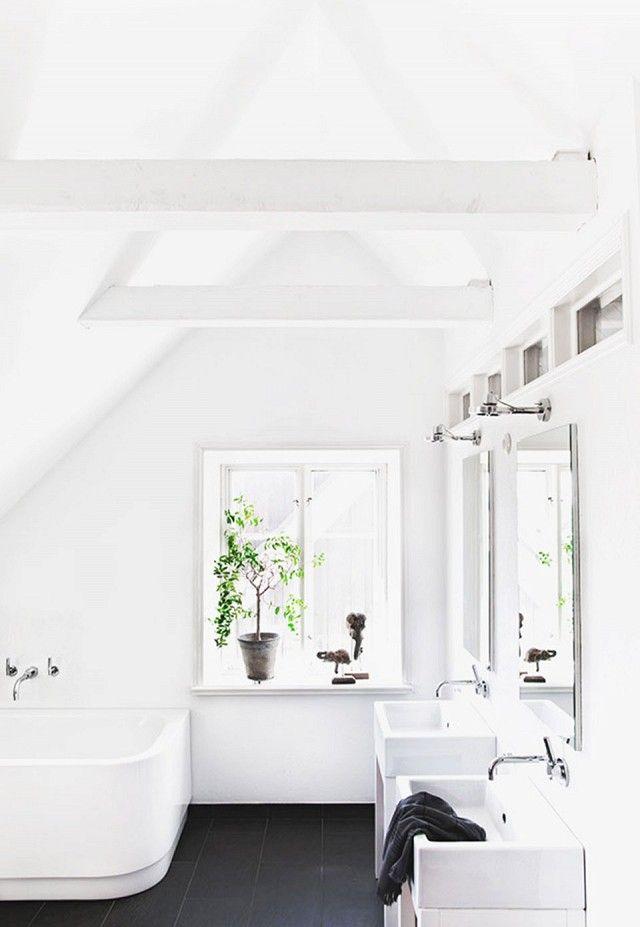 Inside sweden s most instagrammable home black tiles for Most modern bathrooms