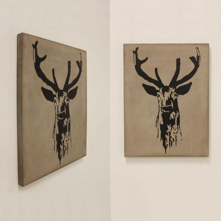Das Deer Bild von Lyon Beton ist Gegenwartskunst in Reinform. Bertrand Jayr transferiert Street Art in den Wohnraum.