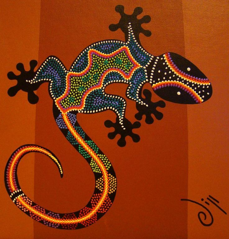 Gecko - Australian Aboriginal Art