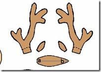 molde cuernos de reno | Divertidas de Navidad