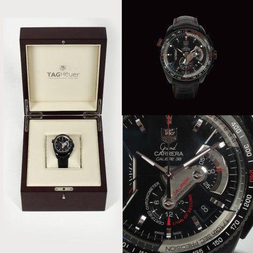 """Ceas TAG Heuer, model """"Grand Carrera"""", de mână, bărbătesc, în cutie originală 2010 oțel, d=4,5 cm Valoare estimativă: € 4.000 - 6.000"""