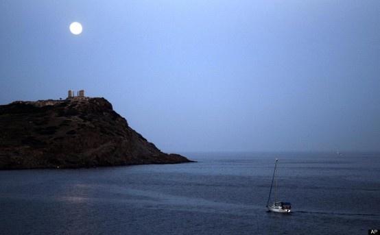 Cape Sounio, south of Athens.