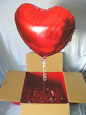 "Ever tried your hand at making a ""Balloon in a Box""? It's a great gift to surprise your spouse or a good friend."