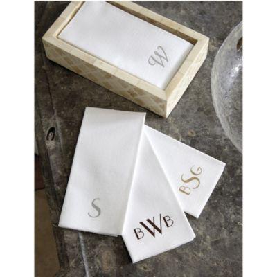 Monogrammed Paper Guest Towels   Set Of 50