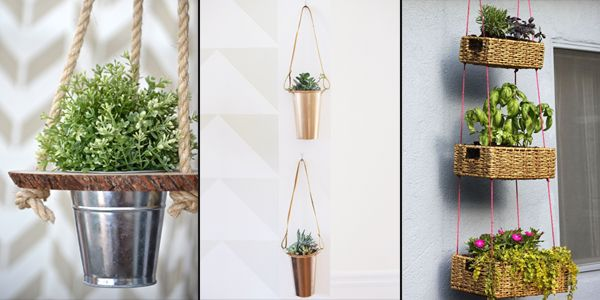 15 absolutely lovely ideas how to create your own hanging planters.