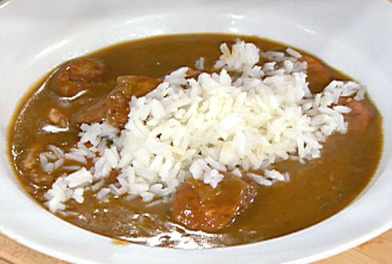 Get this all-star, easy-to-follow Quail and Smoked Sausage Christmas Gumbo recipe from Emeril Lagasse.