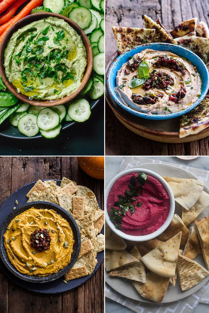 Beyond Roasted Red Pepper: 13 Creative Takes on Hummus —green goddess, beet, roasted pumpkin with chipotle, and more variations on this snacktime favorite.