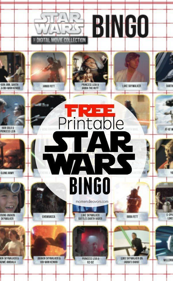 Free Printable Star Wars Activity Sheets - Bingo & Movie Trivia Quizzes!!