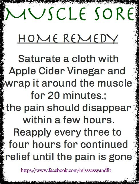 If you're suffering from sore muscles after your workout, try Apple Cider Vinegar.  I tried this and it worked great. If you have super sore muscles it really helps, you have nothing to lose #musclesoresassyandfit