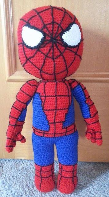 Häkelfieber: Spiderman | OMG free Spiderman pattern! Theres more too,