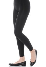 Look-at-Me Cotton Legging  Get in shape in an instant   Just in time to conceal the damage from huge holiday dinners is the new Look-at-Me Cotton Legging from Spanx. This miracle worker smoothes out bulges like a steamroller, yet it never feels too tight. We just wish they came in colors other than black. But we're stocking up anyway!    Cost: $62 to $66 at Spanx.com
