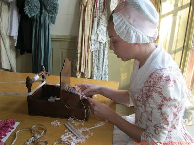 Two Nerdy History Girls: Making 18th C. Floss Fringe for a Gown
