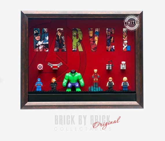 Custom Display Case for Lego Minifigures  by BrickbyBrickCollect
