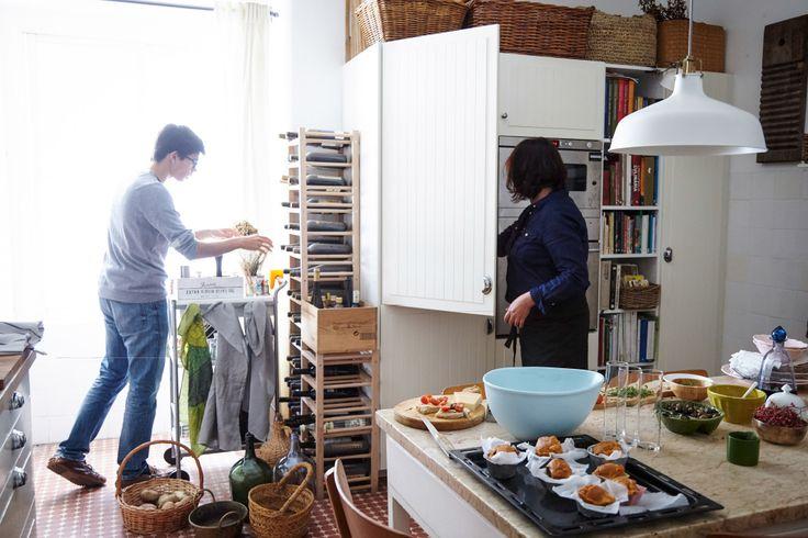 Maria und Antonio kochen gerne im Team.