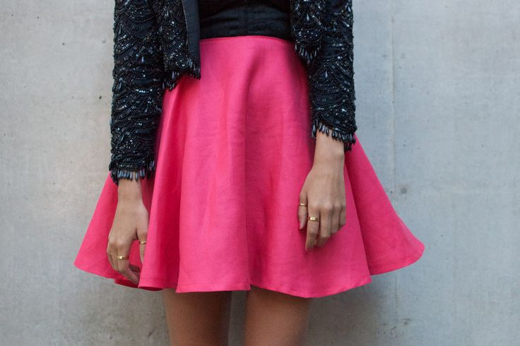 Circle Skirt | A Pair & A Spare  I live in skirts and dresses, so sewing them means I get to have a high rotation! Circle skirts are super easy to make plus they suit lots of shapes. I think I need a hot pink one like the one pictured to go with my bright blue tights!