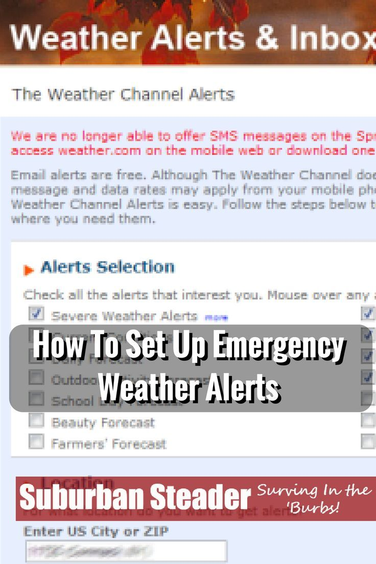 How To Set Up Emergency Weather Alerts