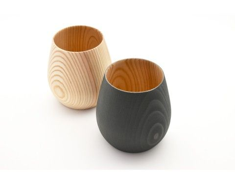 FUQUQI Q wooden cup in natural and black