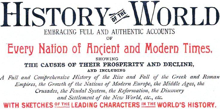 Free World History Educational Materials