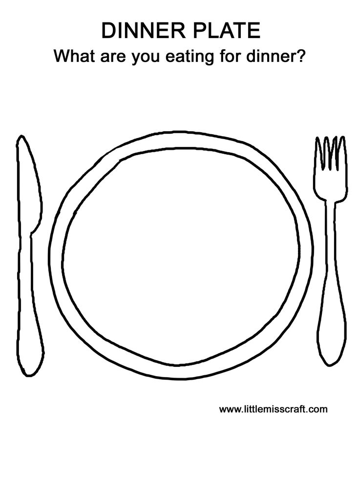 Printable coloring page as you prepare dinner the kids for Dinner plate coloring page