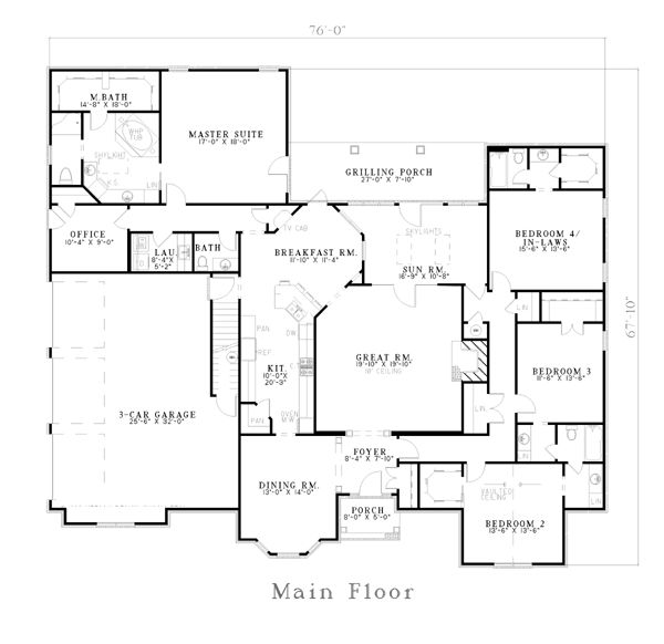 17 best images about 5 bedroom house plans on pinterest for 5 bedroom house plans with bonus room