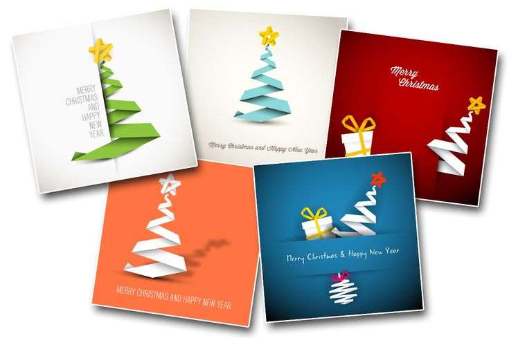 5 Simple Christmas Card Templates by Orson on Creative Market