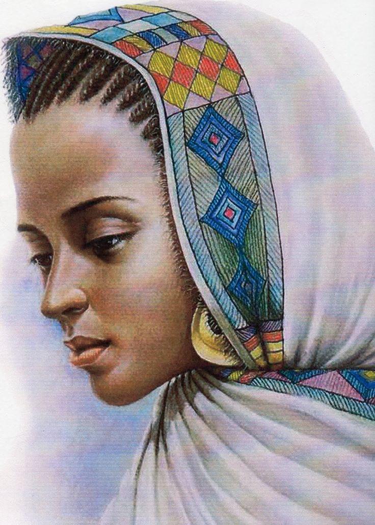 Black women queen art pipercarter ethiopian women art