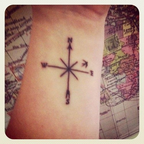 compass tattoo...sweet and simple