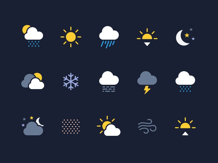 Weather Icons (Made with Figma) by Alex Vanderzon - Dribbble