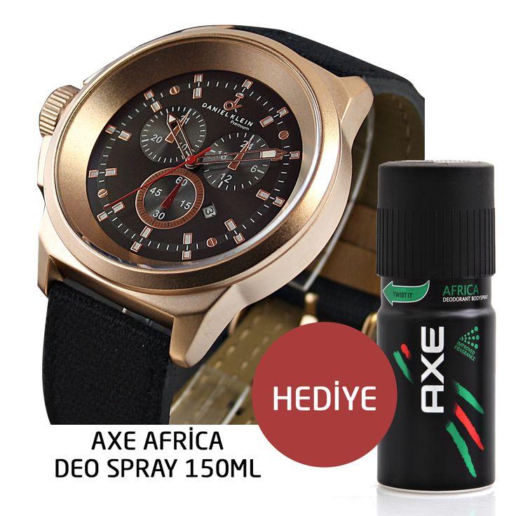 Daniel Klein Premium Erkek Kol Saati + Axe Africa Deo Spray 150ML HEDİYE DKPAXE01 :: Beğen AVM