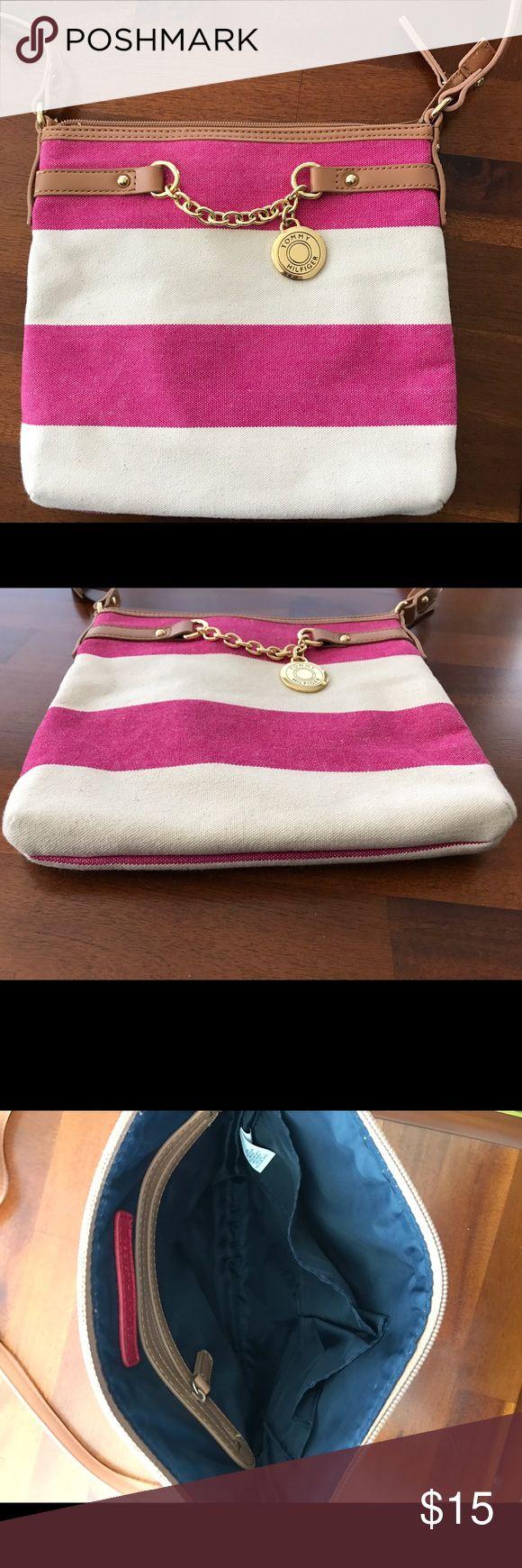 Selling this Tommy Hilfiger Canvas Handbag on Poshmark! My username is: kristeemarc. #shopmycloset #poshmark #fashion #shopping #style #forsale #Tommy Hilfiger #Handbags