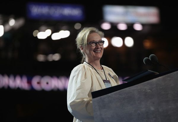 Meryl Streep Photos - Actress Meryl Streep walks on stage prior to the start of the second day of the Democratic National Convention at the Wells Fargo Center, July 26, 2016 in Philadelphia, Pennsylvania. An estimated 50,000 people are expected in Philadelphia, including hundreds of protesters and members of the media. The four-day Democratic National Convention kicked off July 25. - Democratic National Convention: Day Two