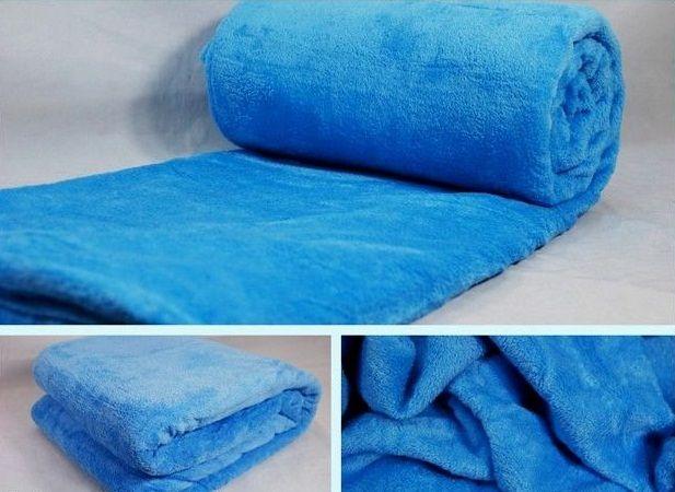 Niebieskie koce z mikrofibry 160x210 elway
