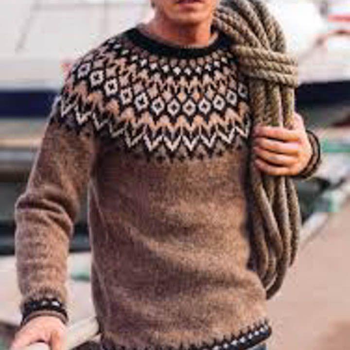 istex-strikkeopskrift-island-uld-nordiskgarn-lettlopi-riddari-herre-sweater