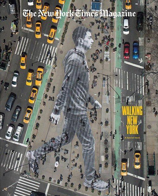 The New York Times разместил на обложке «невидимое» граффити - Bird In Flight