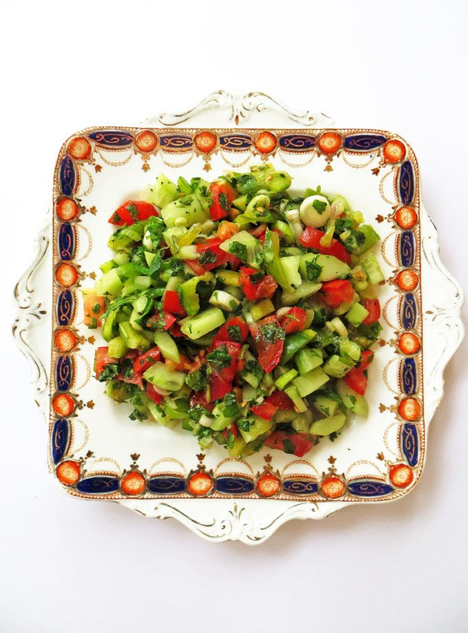 Turkish Shepherd's Salad: A simple, fresh salad bursting with Mediterranean flavours.