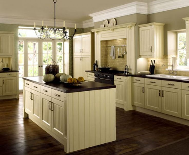 Best Cream Colored Kitchen Cabinets Feat Black Countertop On 400 x 300