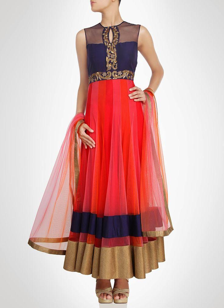 #Queenly Look Net Ankle Length #Anarkali Suit
