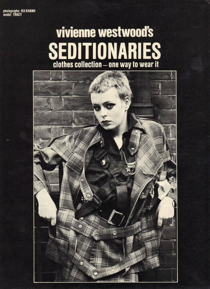 zombiesenelghetto: Tracie O'Keefe on the cover of a Seditionaries catalog, ca 1977