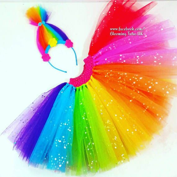 Check out this item in my Etsy shop https://www.etsy.com/uk/listing/519422969/rainbow-sparkly-troll-headband-and-tutu