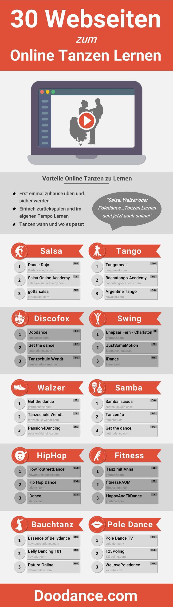 [Infografik] 30 Webseiten zum Online Tanzen Lernen: Endlich tanzen lernen – davon träumst Du schon lange? Dann haben wir etwas für Dich: Unsere große Infografik mit den 30 besten Webseiten zum online (Party Top Outfit)